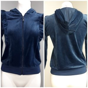 Girls Bue Hooded sweater Large